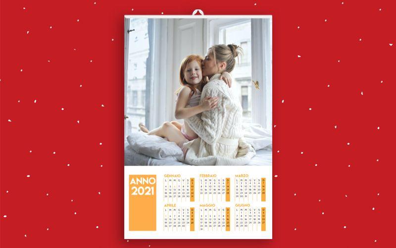 Calendario 6+6 Arancione